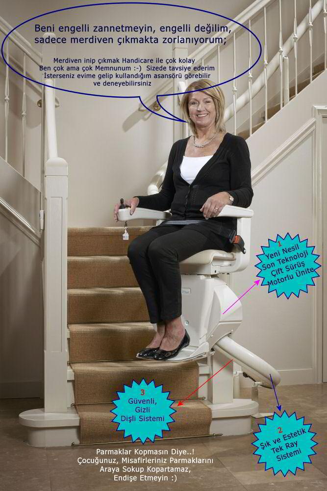 handicare eşsiz özellikleri, Merdiven Asansörü Ev Halkını Nasıl Etkiler?