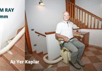 az yer kaplayan sağlam merdiven asansörü rayı koltuklu oturaklı yürüyen